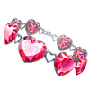 Send a beautiful pink jeweled bracelet and turn your friends nick PINK!