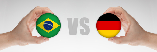 Get ready for this match between Brazil and Germany!