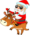 Santa Stiker
