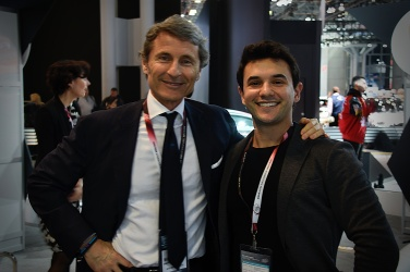 MikeyB (right) with Stephan Winkelmann, CEO of Bugatti